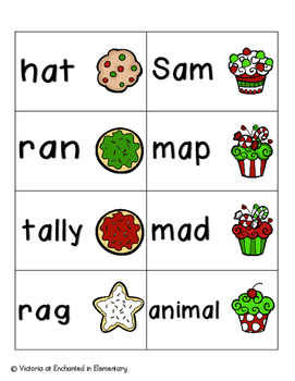 Holiday Treats Phonics: Short A Pack