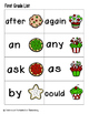 Holiday Treats Sight Words! First Grade List Pack