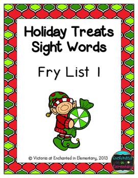 Holiday Treats Sight Words! Fry List 1