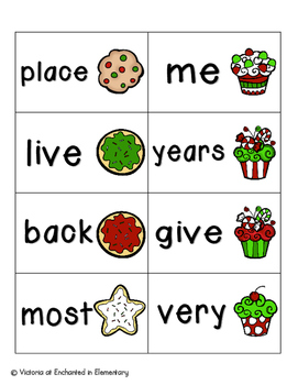 Holiday Treats Sight Words! Fry List 2