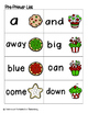 Holiday Treats Sight Words! Pre-Primer List Pack