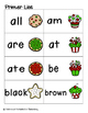 Holiday Treats Sight Words! Primer List Pack
