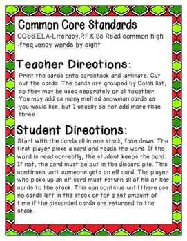 Holiday Treats Sight Words! Second Grade List Pack