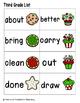 Holiday Treats Sight Words! Third Grade List Pack