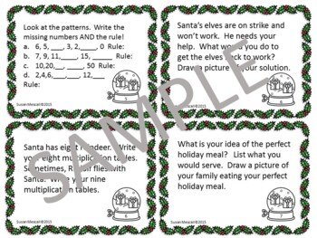 Holiday Enrichment and Challenges for Early Finishers