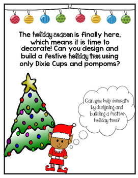 Holiday Tree Building Challenge - Cup Stacking