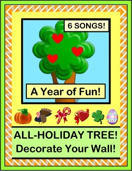 """""""Holiday Tree"""" - Six Songs, Six Crafts!  Decorate Your Room for a Year!"""
