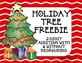 Holiday Tree Freebie {2-Digit Addition With and Without Regrouping}
