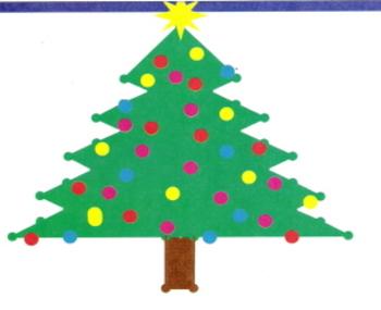 Holiday Tree - Quadrant 1 coordinate graph worksheet