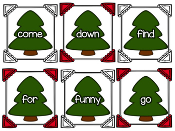 Holiday Tree Sight Word Hunt: Dolch Pre-Primer