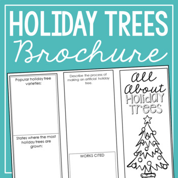 Holiday Tree - The History of Christmas Research Project Interactive Notebook