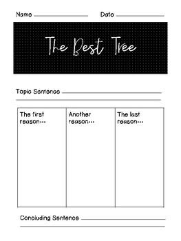 Holiday Tree Writing