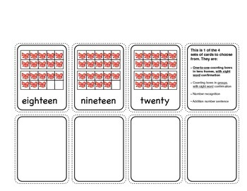 Holiday Tricky Teen Math - Counting, Number Recognition, or Addition