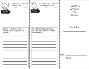 Holiday Trifold for One Country