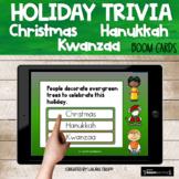 Holiday Trivia BOOM Cards | Christmas Hanukkah Kwanzaa | D