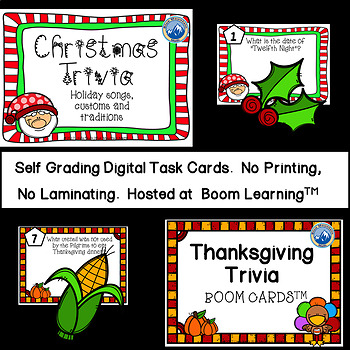 Holiday Trivia Boom Cards
