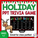 December/Christmas Holiday Trivia Game (Jeopardy-Style, editable)