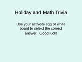 Winter Holidays Trivia and Algebra I basics multiple choice