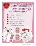 Valentine's Day No Prep Math and Literacy Pack