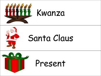 Holiday Vocabulary