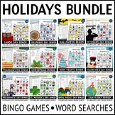 Holidays Bingo and Activities Bundle