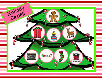 Holiday Vocabulary Smash Mats
