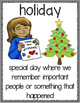 Holiday Vocabulary Word Posters