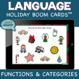 Holiday Wh questions by feature speech therapy activities Boom Cards Christmas