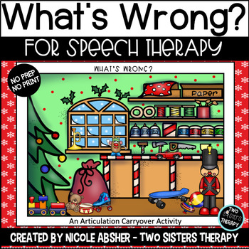 Holiday Vocalic R What's Wrong Picture Scene FREEBIE
