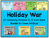 Holiday War Bundle (A Comparing Numbers to 10 Card Game)
