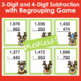 Holiday Math Card Games Addition and Subtraction with Regrouping