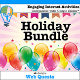 Holiday WebQuests {Includes Google Slides Option}