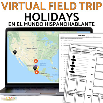 Spanish Holiday Cultural Webquest Interactive Map BUNDLE