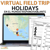 Spanish Holiday Cultural Webquest Interactive Map BUNDLE