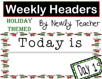 Holiday Weekly Headers