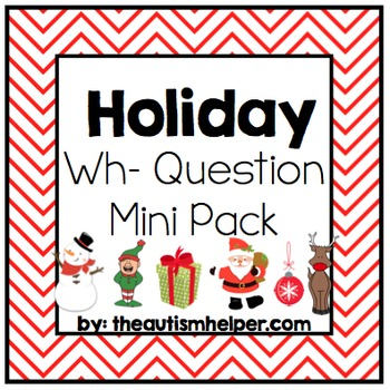 Holiday Wh- Question Mini Pack
