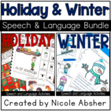 Christmas & Winter Articulation and Language BUNDLE
