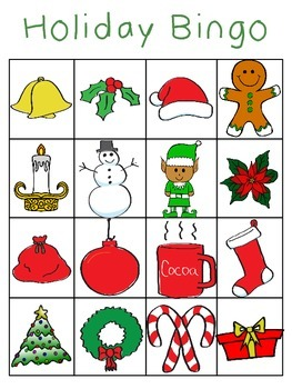 Holiday/Winter Bingo