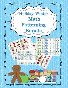Math Patterning Bundle for Winter Holidays
