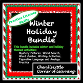 Holiday/Winter Themed Literacy Bundle - Figurative Language, Writing, Grammar