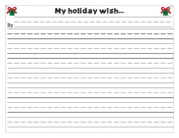 Holiday Wish List Writing Paper