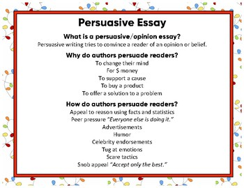 Opinion Or Persuasive Essay: Holiday Wishes For School