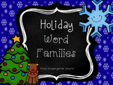 Christmas Word Families