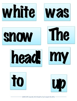 Holiday Word Order Literacy Center