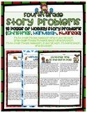 Holiday Word Problems- Fourth Grade (Christmas, Hanukkah, Kwanzaa)