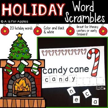 Holiday Word Scrambles