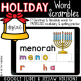 Holiday Word Scrambles DIGITAL | Distance Learning