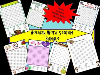 Holiday Word Search Bundle