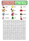 Holiday Word Search (Christmas)