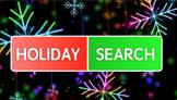 Holiday Word Search (Christmas) Keynote
